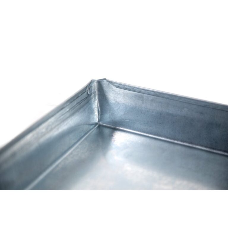 """28″ x 28"""" x 2″ Square Water Heater Drain Pan with 1″ Adapter"""