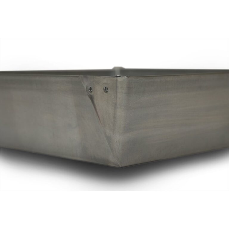 """20″ x 20″ x 4"""" Square Water Heater Drain Pan with 1″ Adapter"""