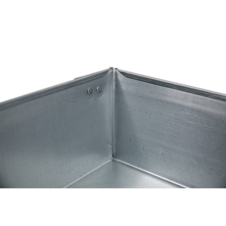 """28″ x 28″ x 4"""" Square Water Heater Drain Pan with 1″ Adapter"""